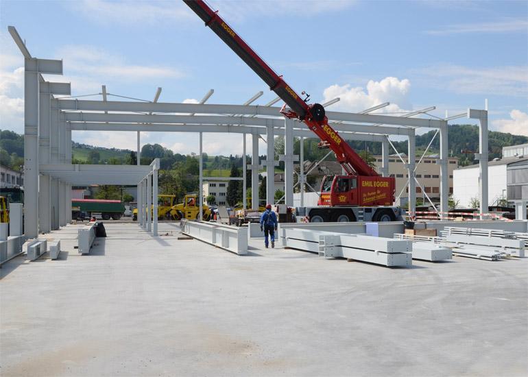 Neubau Stahlhalle DGS