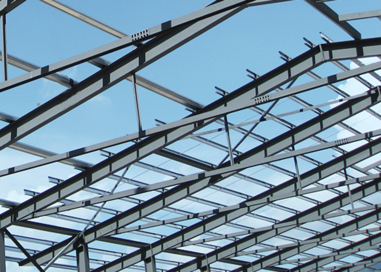 Stahldach montieren