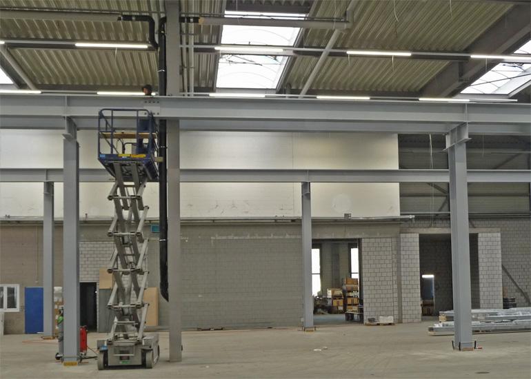 Einbau Kranbahnen Hofstetter AG Stahlbau